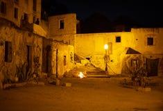 Urban ruins. Urban ruins in center of Lisbon at night Royalty Free Stock Photography