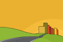 Urban and Rural Background vector illustration