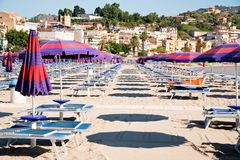Urban sand beach on Sicily Royalty Free Stock Images