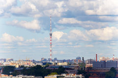 Urban scape of TV tower in Saint-Petersburg Russia Stock Photography