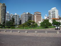 Urban scene. Of Rosario, Argentina - day skyline Royalty Free Stock Photos