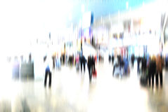 Urban scene abstract city business people walking Royalty Free Stock Photos