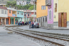 Urban Scene Alausi Town Ecuador Stock Photos