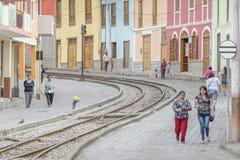 Urban Scene Alausi Town Ecuador Royalty Free Stock Images