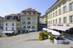 Urban scene of architecture, Fribourg Stock Images