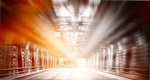 Urban scene. Bridge at Chicago royalty free stock photography