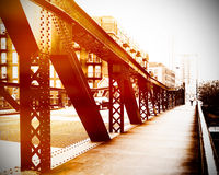 Urban scene of bridge. At Chicago Stock Photo