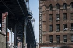 Brooklyn. An urban scene from Brooklyn NY royalty free stock images