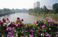 Urban scene. Chiang Mai, Thailand. Urban scene over the river in Chiang Mai, Thailand Stock Image