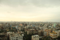 Urban scene of Dhaka. In rainy season Stock Photos