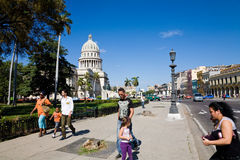 Urban scene, Havana, Cuba Royalty Free Stock Images