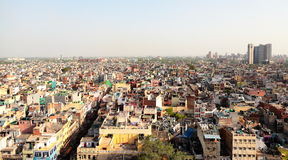 Urban Scene of India. Densely populated area of urban India Royalty Free Stock Photos