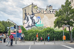 Urban scene in Kreuzberg, Berlin Royalty Free Stock Photos