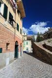 Urban scene in Ligurian village, Italy Stock Photos