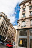 Urban scene from Lyon, France. An urban Lyon scene captured with an unusual camera angle stock images