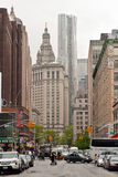 Urban scene of Manhattan along Broadway Street, New York Royalty Free Stock Images