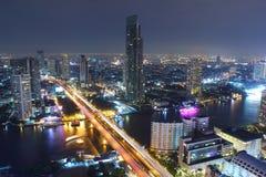 Urban scene Night Beautiful Stock Image