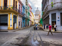 Urban scene in Old Havana Royalty Free Stock Image