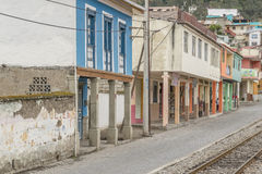 Urban scene of small Alausi town Royalty Free Stock Photography