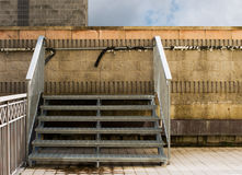 Urban scene steps to nowhere, wall. Stock Images