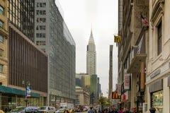 Urban scene in 42 street in New York Royalty Free Stock Image