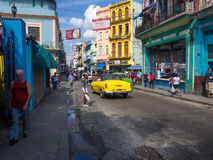 Urban scene in a well known street in Havana Royalty Free Stock Photo
