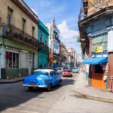 Urban scene in a well known street in Havana Royalty Free Stock Images