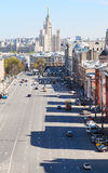 Urban scenery with Lubyanka Square in Moscow Royalty Free Stock Images