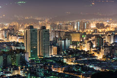 Urban scenery in night Stock Images