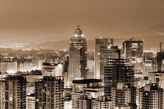 Urban scenery in night Stock Photos