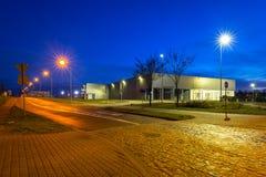 Urban scenery od Pruszcz Gdanski at dusk. In Poland Royalty Free Stock Images