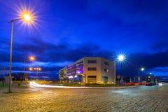 Urban scenery od Pruszcz Gdanski at dusk. In Poland Royalty Free Stock Photos