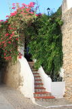 Urban scenic of Ibiza town Royalty Free Stock Photos