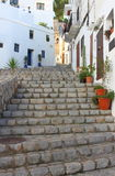 Urban scenic of Ibiza town Stock Images