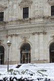 Urban scenic of Rome under snow Royalty Free Stock Photo