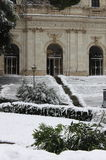 Urban scenic of Rome under snow Stock Photography