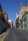 Urban Scenics Streets - Colorful Streets from Little Town, Mexico Stock Photo