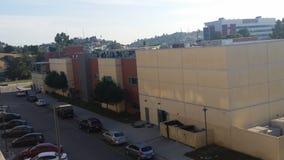 Urban school buildings stock photos