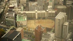 Urban school in Osaka, Japan stock video footage