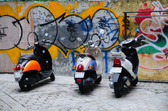 Urban Scooters Grunge Graffiti Royalty Free Stock Image