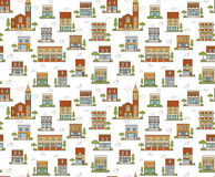 Urban Seamless Pattern Stock Photo