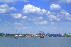 Urban seaside summer skies Stock Images