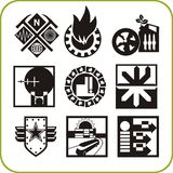 Urban services - set of vector icons Royalty Free Stock Images
