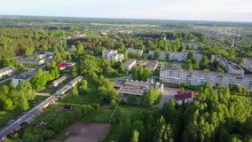 Ruba urban village. The urban settlement in the Vitebsk district of the Vitebsk region of Belarus, which was subordinate to the administration of the stock video