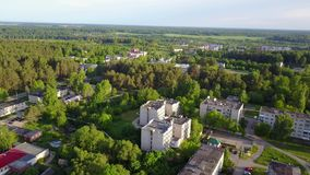 Ruba urban village. The urban settlement in the Vitebsk district of the Vitebsk region of Belarus, which was subordinate to the administration of the stock video footage