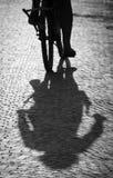 Urban shadows Royalty Free Stock Photos