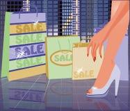 Urban Shopping card, vector Royalty Free Stock Photography