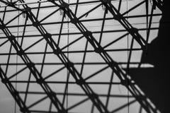 Urban sikter i svartvitt Royaltyfri Foto