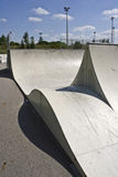 Urban Skate Park Ramps Stock Photo