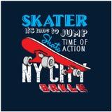 Urban skateboard artistic for t shirt royalty free illustration